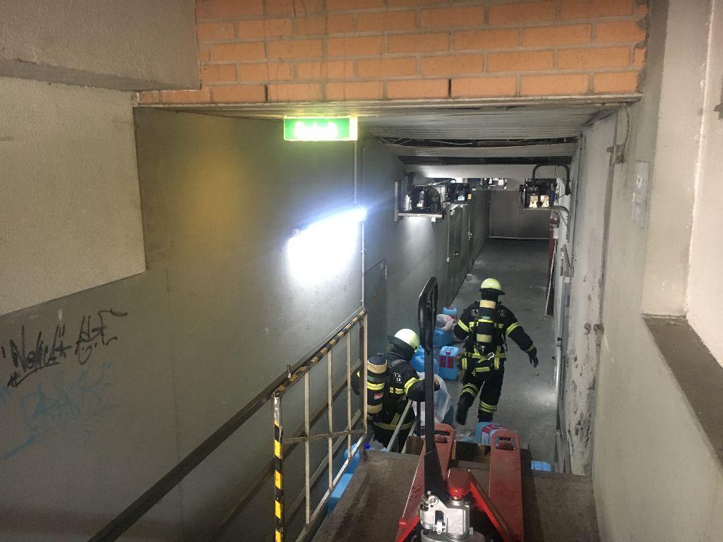 Gemeinsame Übung des Gefahrstoffzuges am La Ola