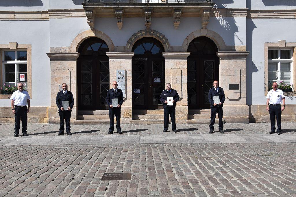 Wechsel in Führungsfunktionen bei der Freiwillige Feuerwehr Landau