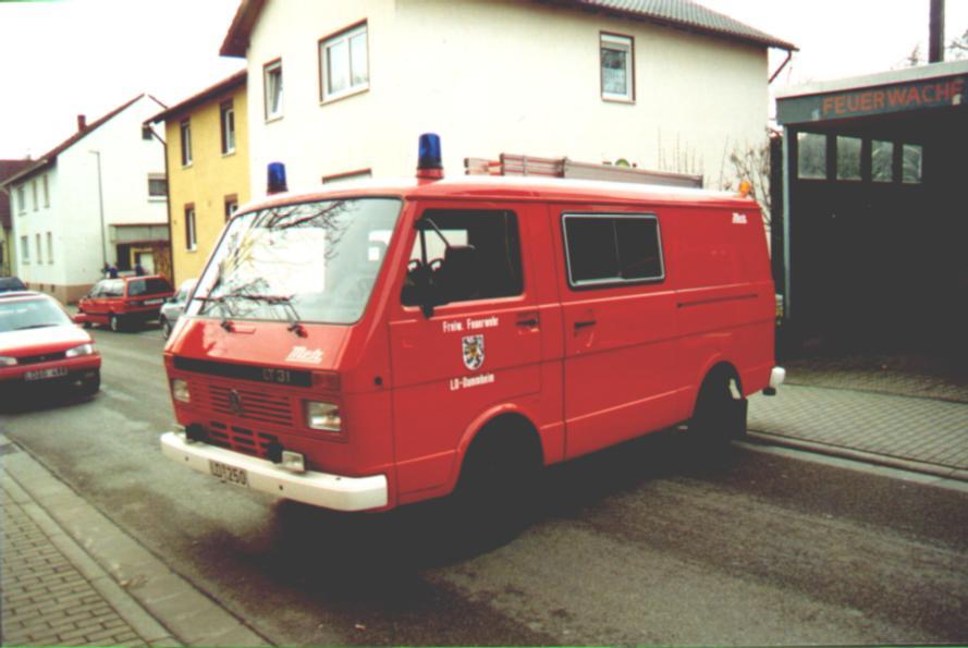 Fahrzeug: Tragkraftspritzenfahrzeug TSF Dammheim